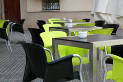 The interior street cafe royalty free stock images