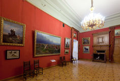 Interior of Stroganov Palace. ST.PETERSBURG, RUSSIA - AUGUST 3: Interior of Stroganov Palace in August 3, 2012 in St.Petersburg, Russia.  Palace was built to Royalty Free Stock Photos