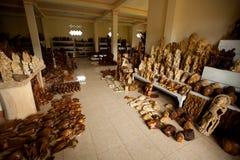 Interior of the studio woodcarver Stock Photos