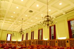 Interior of Study Hall in University Library Royalty Free Stock Images