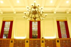 Interior of Study Hall in University Library Stock Photo