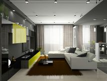 Interior of the stylish apartment Royalty Free Stock Photos