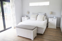 Interior Of Stylish Contemporary Bedroom Royalty Free Stock Photography