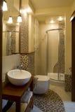 Interior of stylish modern bathroom Stock Photos