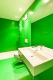 Green bathroom Royalty Free Stock Image