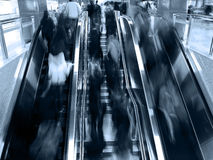 Interior of a subway station. Passenger in the subway station in shanghai china, blurred motion Royalty Free Stock Images
