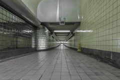 Interior of a subway station Stock Images