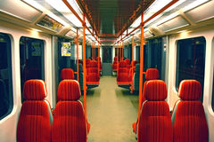 Interior of subway train Stock Image