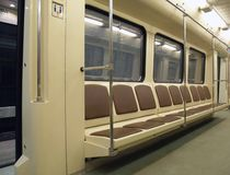Interior of a subway train Royalty Free Stock Images