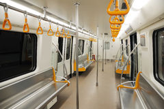 Interior of a subway train Royalty Free Stock Photography