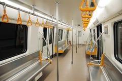 Interior of a subway train Royalty Free Stock Photography
