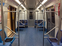 Interior of a subway train Stock Photography