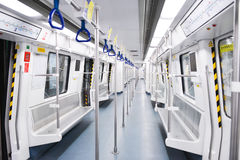 The interior of subway train.  The subway or underground system for the city of Shenzhen Stock Photos