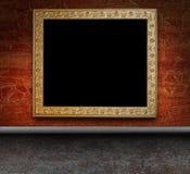 Interior sujo com frame antigo Fotos de Stock Royalty Free