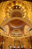 Interior of Suleymaniye Mosque in Istanbul. Turkey Stock Photos
