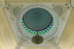 Interior of Sultan Abdul Samad Mosque (KLIA Mosque) Royalty Free Stock Photography