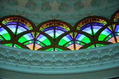 Interior of Sultan Abdul Samad Mosque (KLIA Mosque) Royalty Free Stock Photos