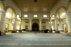 Interior of Sultan Abu Bakar State Mosque in Johor Bharu, Malaysia Royalty Free Stock Photos