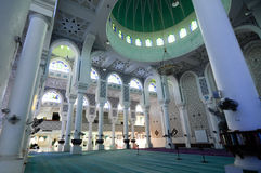 Interior of  Sultan Ahmad 1 Mosque in Kuantan Royalty Free Stock Photography