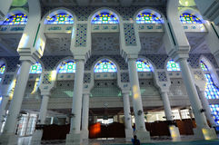 Interior of Sultan Ahmad Shah 1 Mosque in Kuantan Royalty Free Stock Photo