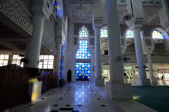 Interior of Sultan Ahmad Shah 1 Mosque in Kuantan Royalty Free Stock Photography