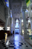 Interior of Sultan Ahmad Shah 1 Mosque in Kuantan Royalty Free Stock Images