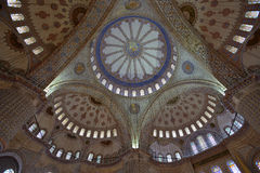 Interior of Sultan Ahmed Mosque Royalty Free Stock Photo