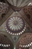 Interior of the Sultan Ahmed Mosque, or blue mosque, in Istanbul Stock Images