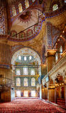 Interior of Sultan Ahmed Mosque  (Blue Mosque), Istanbul. Royalty Free Stock Photo