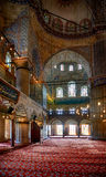Interior of Sultan Ahmed Mosque  (Blue Mosque), Istanbul. Stock Photo