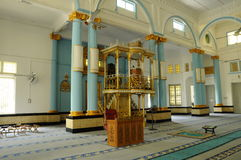 Interior of The Sultan Ibrahim Jamek Mosque at Muar, Johor Stock Images