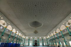 Interior of Sultan Ismail Mosque in Muar Royalty Free Stock Images