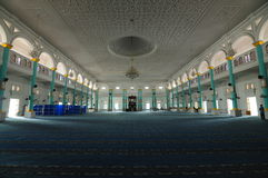 Interior of Sultan Ismail Mosque in Muar Royalty Free Stock Photo