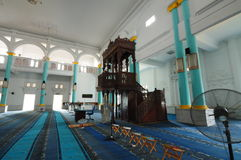 Interior of Sultan Ismail Mosque in Muar Royalty Free Stock Image