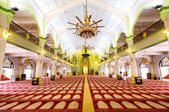 Interior of the Sultan Mosque in Singapore. This image shows the Interior of the Sultan Mosque in Singapore royalty free stock image