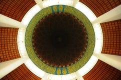 Interior of Sultan Salahuddin Abdul Aziz Shah Mosque a.k.a Shah Alam Mosque Royalty Free Stock Photo