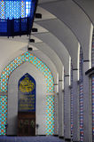 Interior of Sultan Salahuddin Abdul Aziz Shah Mosque a.k.a Shah Alam Mosque Royalty Free Stock Image