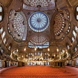 Interior of the Sultanahmet Mosque in Istanbul Stock Photography
