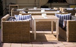 Interior summer restaurant Stock Images