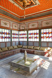 Interior of Summer Room in Khan's Palace, Crimea. BAKHCHYSARAI, RUSSIA - OCTOBER 1, 2014: interior of Summer room in Khan's Palace (Hansaray) in Bakhchisaray Royalty Free Stock Images