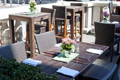 Interior of a summer terrace of restaurant Royalty Free Stock Image