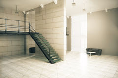Interior with sunlight side Royalty Free Stock Photography
