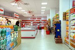 Interior of a supermarket Franca Stock Photos
