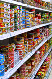Interior of a supermarket Royalty Free Stock Images