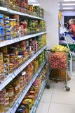 Interior of a supermarket Stock Image