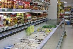 Interior of a supermarket Stock Photo