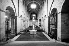 The interior of Swedish church. Royalty Free Stock Photography