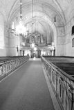 The interior of Swedish church. View of the Cathedral charming interior, photo taken in October 2008. Sweden Royalty Free Stock Images