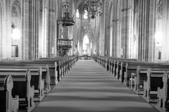 The interior of Swedish church. View of the Cathedral charming interior, photo taken in October 2008. Sweden Royalty Free Stock Photography