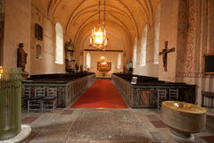 The interior of Swedish church. Royalty Free Stock Photography